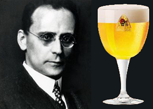 The late Anton Webern contemplates a delicious blond beer!
